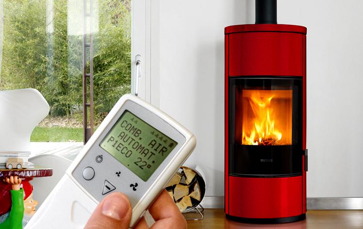 Σύστημα ελέγχου της καύσης Burn Control System στις σόμπες ξύλου Piazzetta